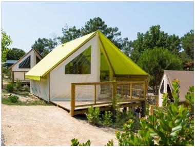 Location d'Ecolodge au Camping le Bois Joly, en Vendée