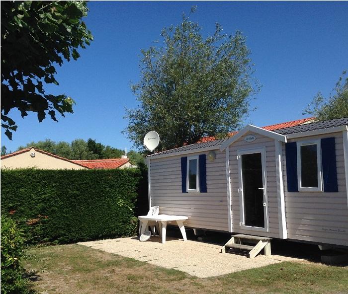 mobil-home avec terrasse en location en Vendée