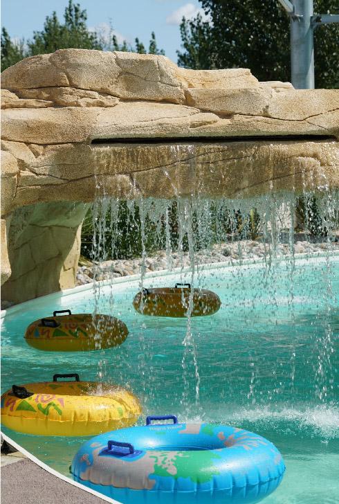 le parc aquatique du camping