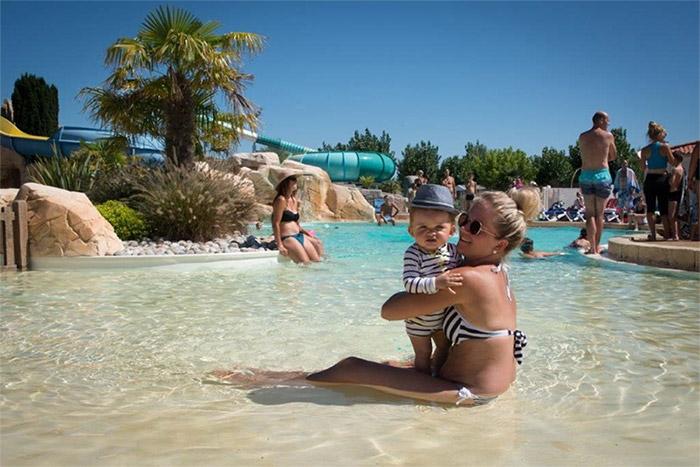 le lagon du parc aquatique du camping de Saint Jean de Monts